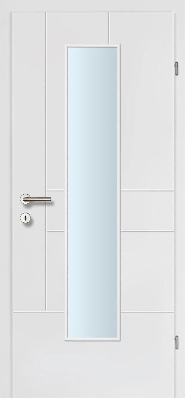 Design Line 40 weiss inkl. Zarge Glaslichte EN Mittig