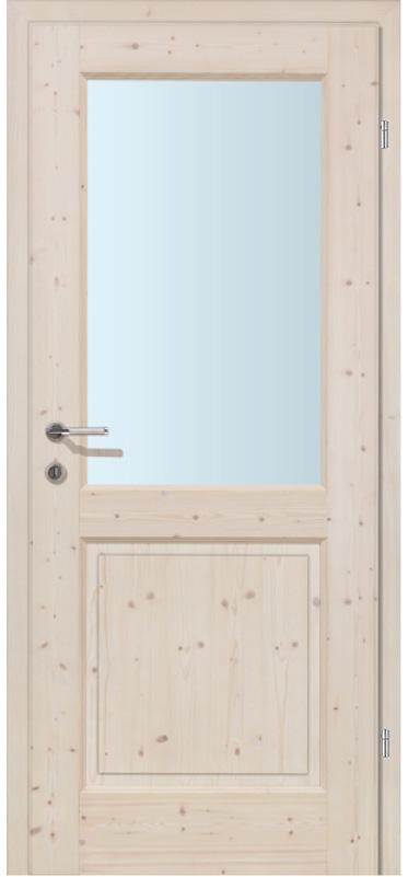 Ramsau FG Fichte weiß Pigment Glaslichte LA1 inkl. Zarge (Türrahmen)