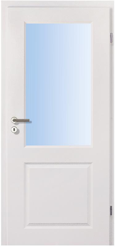 Landhaus 20 weiss Innentür inkl. Zarge (Türrahmen) Glaslichte LA1