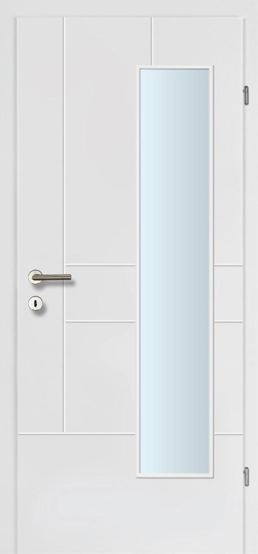 Design Line 40 weiss inkl. Zarge Glaslichte EN Bandseitig