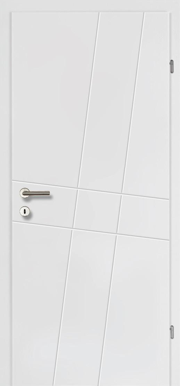 Design Line 50 weiss inkl. Zarge Vollbau